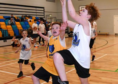 Basketball game shot